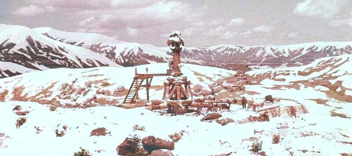 Model Wheel of Pain v zimě