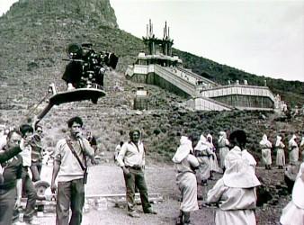Filmaři na lokaci Temple of Thulsa Doom
